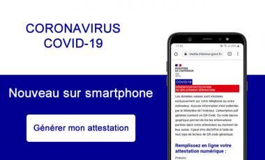 CORONAVIRUS COVID-19  Nouvelle attestation de déplacement